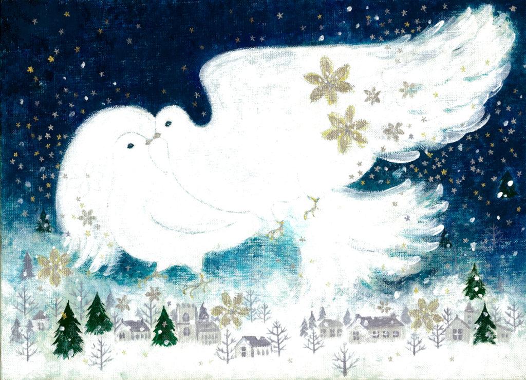 クリスマスモチーフ鳩